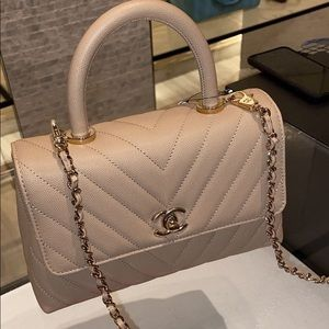 Chanel Chevron Coco Handle Bag